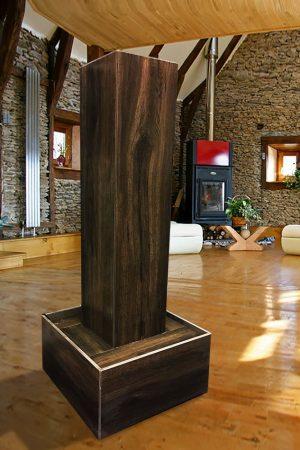 Stelenbrunnen Ebony-Wood, 130 cm
