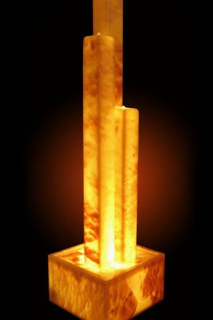 Lichtstelen-Gruppe Onyx-Gold