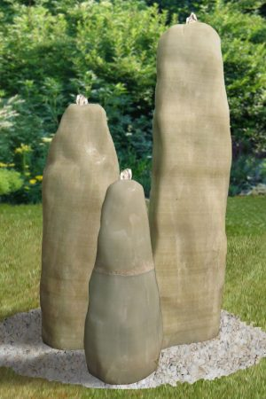 White-Onyx-Trio Gartenbrunnen Komplettset