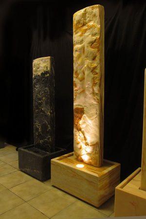 Marmor-Wasserwand Ägäis-Gelb 166 cm