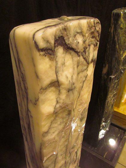 Marmor-Wasserwand 130cm - Purple Wave