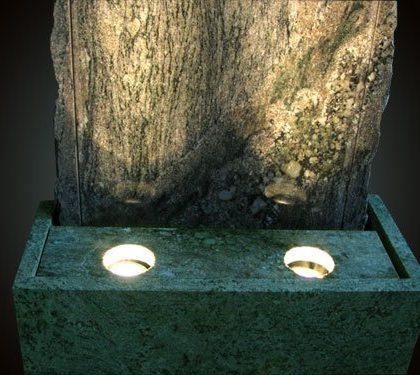 """Granit-Wasserwand """"Rustikal Verde"""""""