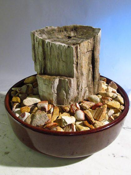 """Zimmerbrunnen Versteinertes Holz """"Grande"""""""
