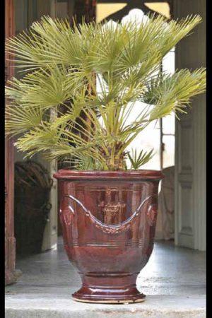 """Pflanzengefäß """"Anduze bordeaux"""" 53 cm"""