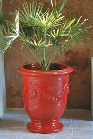 "Pflanzengefäß ""Anduze rosso"" 45 cm"