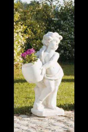 """Gartenfigur Engel mit Pflanze """"Angelico dx"""""""