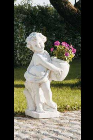 """Gartenfigur Engel mit Pflanze """"Angelico sx"""""""
