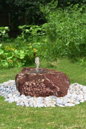Gartenbrunnen Flat-Rock-Rosso