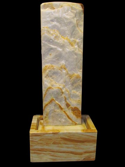 Marmor-Wasserwand 97cm - Ägäis-Gelb