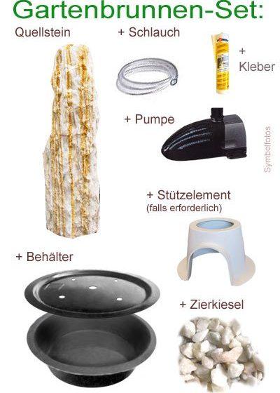 Komlett-Set Ägäis-Gelb-Quellstein