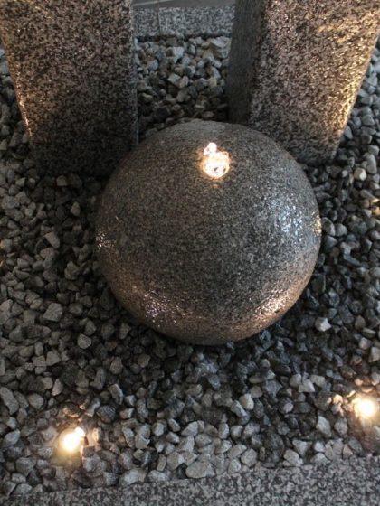 Granitbrunnen Manhatten-Grey