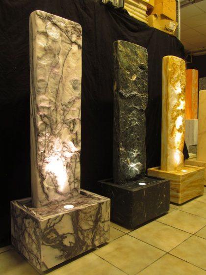 Marmor-Wasserwand 130cm - Ägäis-Gelb