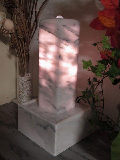 Marmor-Lichtstele Olympos-White 42 cm