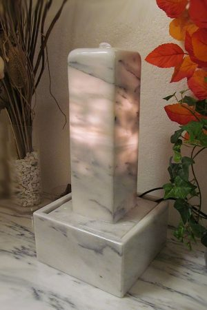 Marmor-Lichtstele Olympos-White 42 cm