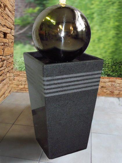 """Edelstahl-Kugelbrunnen """"Monaco-Small-30 cm"""""""