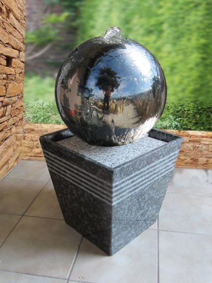 """Edelstahl-Kugelbrunnen """"Monaco-Small-40 cm"""""""