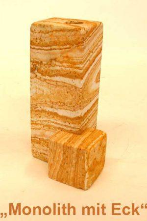 """Regenbogen Sandstein """" Monolith mit Eck"""""""