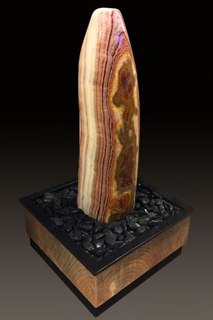 Zimmerbrunnen Onyx-Stripes 90 cm