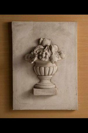 """Gartendekoration Fliese mit Fruchtschale """"Pannello cesto frutta"""""""
