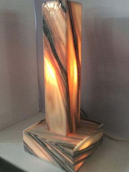 """Lichtstele Sölker-Marmor """"Midi"""" 70 cm"""