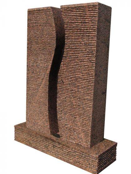 Granit-Brunnen S-Twin, large mit Wanne