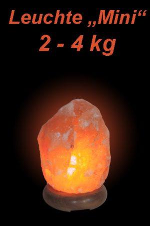 """Salzkristall Leuchte """"Mini"""" (2-4kg)"""