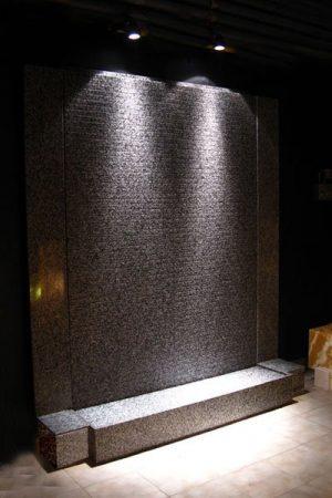 """Granit-Wasserwand """"Island""""  mit Rillen"""